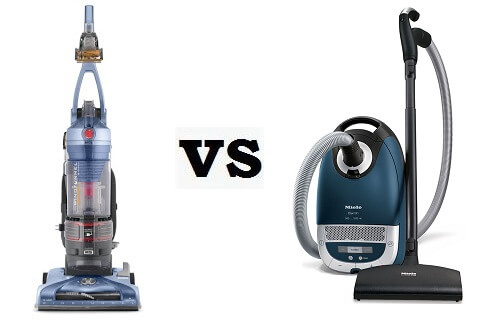 Canister vacuum vs. Upright vacuum cleaners
