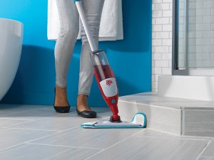 image of Dirt Devil PD11000 Quick Clean Spray Mop with Swipes Microfiber Scrubbing Pad