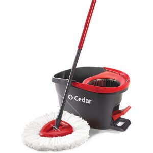 image of O-Cedar EasyWring Microfiber Spin Mop and Bucket Floor Cleaning System