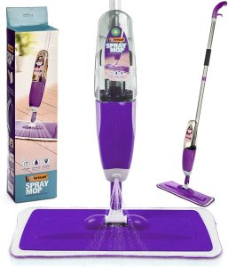 image of Vorfreude – Floor Mop with Integrated Spray and Refillable 700Ml Capacity Bottle